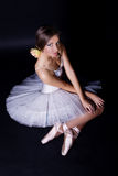 Ballerina in white tutu Royalty Free Stock Photography