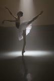 Ballerina in the white tutu Stock Photography