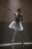Ballerina in the white tutu Royalty Free Stock Image
