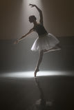 Ballerina in the white tutu stock photos