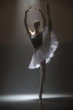 Ballerina in the white tutu Stock Photo