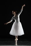 Ballerina in white Stock Photography