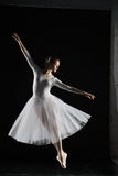 Ballerina in white Royalty Free Stock Photo