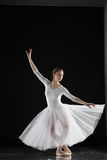Ballerina in white Stock Image