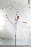 Ballerina in white Royalty Free Stock Images