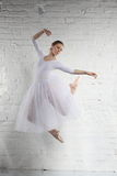 Ballerina in white Stock Photos