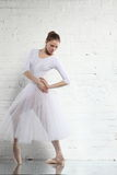 Ballerina in white Royalty Free Stock Image