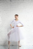 Ballerina in white Stock Photo