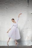 Ballerina in white Royalty Free Stock Photography
