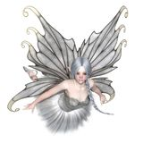 Ballerina Winter Fairy Flying Stock Photography
