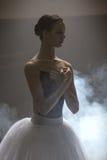 Ballerina's portrait in class room Stock Photo