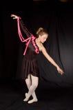 Ballerina in zwarte royalty-vrije stock foto's
