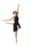 Ballerina in zwarte kleding royalty-vrije stock foto's