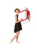 Ballerina in zwarte kleding royalty-vrije stock afbeelding