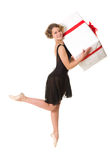 Ballerina in zwarte kleding stock afbeeldingen