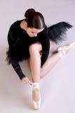 Ballerinaaufstellung Stockfoto