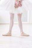 Ballerinabeine in der zweiten Position Lizenzfreie Stockfotos
