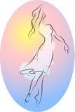 ballerinadans royaltyfri illustrationer