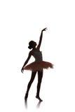 Ballerinadans på en vit bakgrund Royaltyfri Fotografi