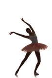 Ballerinadans på en vit bakgrund Arkivfoto