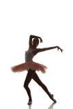 Ballerinadans på en vit bakgrund Fotografering för Bildbyråer
