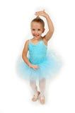 ballerinaen little poserar Royaltyfri Fotografi