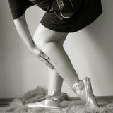 Ballerinafahrwerkbeine Stockfoto