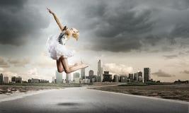 Ballerinaflicka Arkivfoto