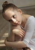 ballerinaflicka little royaltyfri fotografi