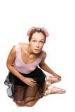 Ballerinamädchen lizenzfreie stockbilder