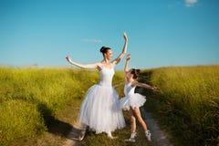 Ballerinamutter und -tochter Lizenzfreies Stockbild