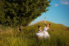Ballerinamutter und -tochter Lizenzfreie Stockfotografie