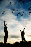 ballerinas ευτυχή Στοκ εικόνα με δικαίωμα ελεύθερης χρήσης
