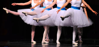Ballerinas in action Stock Image