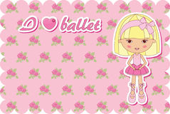 Ballerinas card Royalty Free Stock Photos
