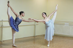 Ballerinas in a dance studio Stock Photos
