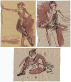 Ballerinas, drawing 3 Stock Photos