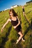 ballerinas field standing Fotografering för Bildbyråer