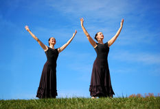 Ballerinas Performing Royalty Free Stock Photography