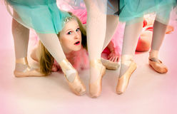 Ballerinas Point Your Toes Royalty Free Stock Images