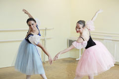 Ballerinas practicing Royalty Free Stock Images