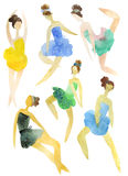 Ballerinas set Royalty Free Stock Photography