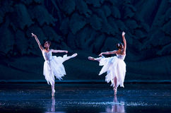 Ballerinas on a stage Royalty Free Stock Image