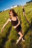 Ballerinas standing in a field Stock Image
