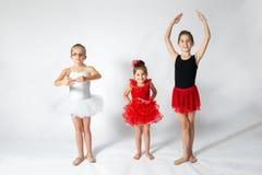 ballerinas tre Arkivfoton