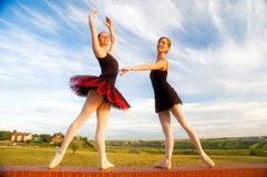 Ballerinas on a wall Royalty Free Stock Photography