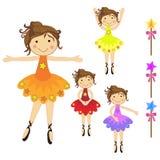 Ballerinaset Stockbilder