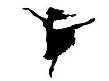 ballerinasilhouette royaltyfri illustrationer