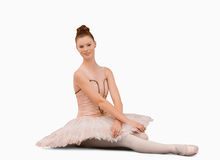 ballerinasitting Royaltyfria Bilder