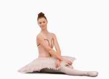ballerinasitting Royaltyfria Bilder